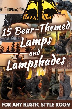 15 Bear-Themed Lamps And Lampshades For Any Rustic Style Room. Article by HomeDecorBliss.com #HDB #HomeDecorBliss #homedecor #homedecorideas
