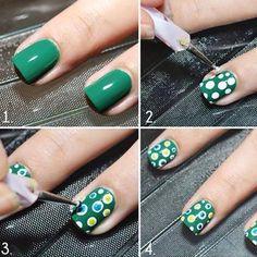 Diseños para uñas paso a paso con esmalte, diseño para uñas paso a paso puntos… Nails & Co, Chic Nails, Diy Step By Step, Latest Nail Art, Diy Nail Designs, Manicure Tools, Pretty Designs, Creative Nails, Nail Tutorials