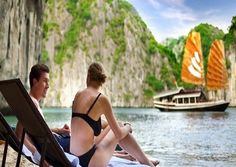 If you used to come to Vietnam, you can't help seeing that there are alot of tours in Halong Bay, with rock limestones in various shapes such as heaven grotto, amazing cave, wooden stake grotto, lan ha bay, or small monkey island located in Caba island,specially Bai Tu Long bay. Alls are said to be tour tourism paradise in Vietnam, It can't be better to take this for your honeymoon holiday on the cruises with us to keep unforgetable memories, A love story for tomorrow.