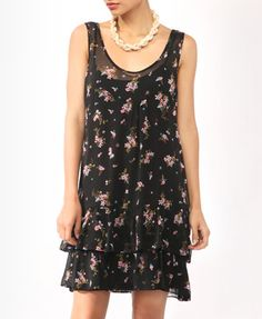 Tiered Floral Print Dress from Forever21.com