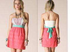 Coral Heaven Dress