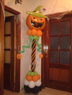las decoraciones fantabulosas para este Halloween en la fiesta de los niños...