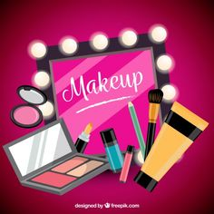 Makeup Artist Logo, Makeup Artist Business Cards, Makeup Supplies, Makeup Tools, Makeup Clipart, Makeup Illustration, Makeup Wallpapers, Paper Napkins For Decoupage, Makeup Quotes