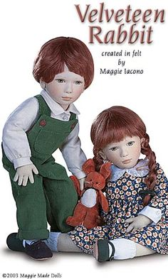 Velveteen Rabbit 16.5 Inch Tall Felt Doll Edition Size: 70 Created in 1996. #Maggie_Iacono_dolls