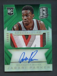 2014-15-Spectra-Green-Prizm-Jabari-Parker-RPA-RC-4-Color-Nameplate-Patch-AUTO-5