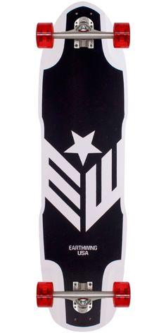 Earthwing Big Hoopty Longboard Skateboard Complete ~ Could pass for a Cap board. Longboard Shop, Longboard Decks, Skateboard Decks, Long Skate, Cruiser Boards, Skateboard Design, Used Trucks, Skate Decks, Longboarding