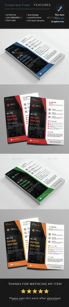 Corporate Business Flyer. Fully editable PSD flyer template. #black #blue #clean #colorful #corporate #creative #designer #flyer #FreshFlyer #graphic #green #HiQuality #LayredPsd #ModernDesign #official #photoshop #print #PrintReady #professional #PsdGraphics #red #simple #smith #standard #SuperCreative #WhiteBusinessFlyer Psd Flyer Templates, Business Flyer Templates, Corporate Flyer, Corporate Business, Information Graphics, Creative Design, Modern Design, Flyer Design, Colorful
