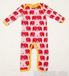 Suit Elephants & mice Baby Pink 56-98cm  25.15 €  Potkari jossa keltaiset kanttaukset valmistajana Småfolk
