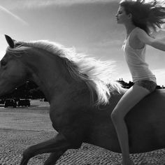"""""""When riding a horse we leave our fear, troubles, and sadness behind on the…"""