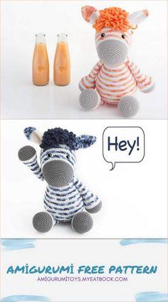 Crochet Crafts, Crochet Toys, Free Crochet, Baby Gift Sets, Baby Gifts, Stuffed Animal Patterns, Crochet Patterns Amigurumi, Crochet Animals, Donkey