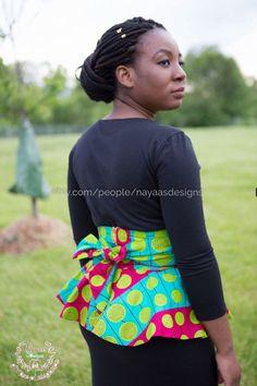 Ceinture de Peplum imprimé africain Peplum par NayaasDesigns