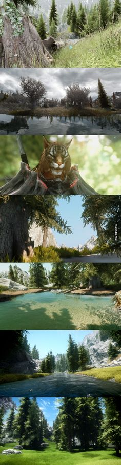 Skyrim with lots of mods. Not photoshop.