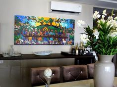 Andreza Katsani Artes . Santa Ceia Flat Screen, Painting, Religious Art, Frames, Blood Plasma, Painting Art, Flatscreen, Paintings, Painted Canvas