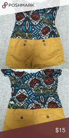Romper Looks like a top and shorts, but it's a romper. Fits true to size, from a smoke and pet free home. Originally bought from Macy's. Sequin Hearts Shorts
