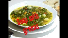 Soup with greens potatoes 1 carrot 1 pepper an onion oil 2 green salads spinach of water 13 g salt dill, green onion and celery with . Supe, Green Soup, Celery Soup, Green Onions, Thai Red Curry, Ramen, Ethnic Recipes, Food, Spring Bulbs