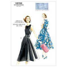 Vogue Misses' Dress Pattern V8788 Size A50