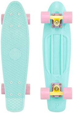 Buy me this for Christmas or my birthday mia pwease? Board Skateboard, Penny Skateboard, Skateboard Design, Skateboard Girl, Cheap Skateboards, Complete Skateboards, Pastel Penny Board, Mini Skate, Skate Bord