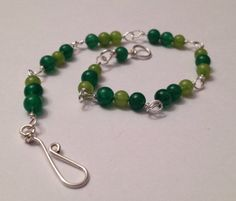 Mixed Jade Bracelet by wrappedandwired on Etsy, $18.00