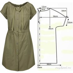 Tunic Sewing Patterns, Clothing Patterns, Dress Patterns, Sewing Clothes, Diy Clothes, Costura Fashion, Clothing Hacks, Sewing Basics, Fashion Sewing