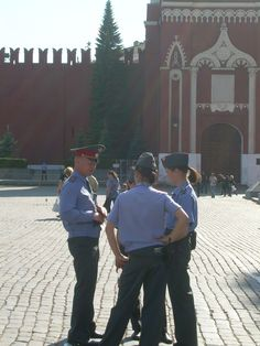 Cops near historical museum, Moscow 2010