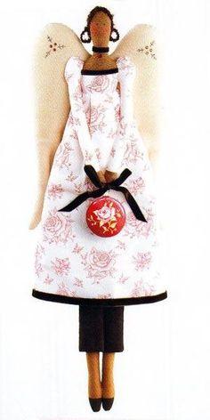 Тильда Ангел Рождества: выкройка куклы для шитья