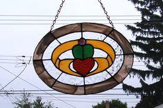 Stained Glass Suncatcher Irish Claddagh by smashingglass on Etsy, $65.00