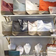 Love @shopclutch 's display at their new store in Rye, NY! #MadeInNYC #ChristenMaxwell #BeachBag