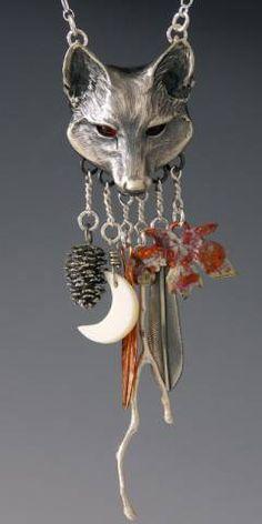 Fox Jewelry Charm, Handcrafted Silver Jewelry