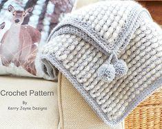 CROCHET BABY BLANKET Pattern Crochet Pattern por KerryJayneDesigns