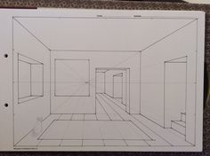 One point perspective, Room Interior Architecture Drawing, Architecture Concept Drawings, Drawing Interior, Interior Design Sketches, Architecture Sketchbook, Sketch Design, Architecture Design, Perspective Room, Perspective Drawing Lessons