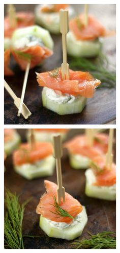 these simple yet fancy Smoked Salmon and Cream Cheese Cucumber Bites are crunchy. these simple yet fancy Smoked Salmon and Cream Cheese Cucumber Bites are crunchy, creamy finger food food perfection Smoked Salmon Cream Cheese, Smoked Salmon Appetizer, Smoked Salmon Recipes, Light Appetizers, Finger Food Appetizers, Appetizer Recipes, Recipes Dinner, Bridal Shower Appetizers, Toothpick Appetizers