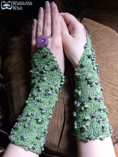 Enchanted Meadow Gauntlets Faery Wrist Warmers