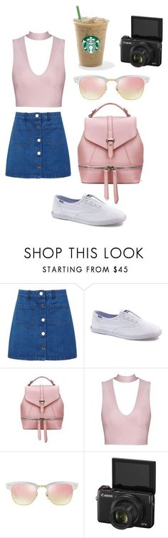 """alisha marie inspired outfit"" by fashionblogger2122 on Polyvore featuring Miss Selfridge, Keds and Ray-Ban"
