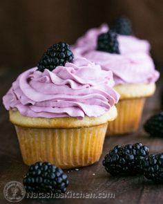 Greek Yogurt Cupcakes with Blackberry Frosting | 29 Genius Ways To Eat Greek Yogurt