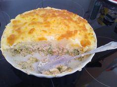 Reteta culinara Fish Pie (placinta cu peste) din categoria Peste. Specific Marea Britanie. Cum sa faci Fish Pie (placinta cu peste) Fish Pie, Fish And Seafood, Quiche, Broccoli, Cooking Recipes, Breakfast, Desserts, Morning Coffee, Tailgate Desserts