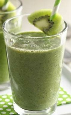 Green smoothies are super trendy right now, and for good reason: They're so good for you! This super-popular recipe is sweetened up with a little apple juice, kiwi and Yoplait Key Lime Pie yogurt. Using frozen spinach means you won't need to stock up on fresh greens, either.