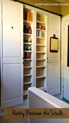 Are you short on kitchen storage? This DIY Pantry Between the Studs adds TONS of useful storage and it's not hard to make.
