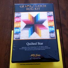 MCG Textiles  37631 Quilted Star  Latch Hook by SpareTimeSupplies (Craft Supplies & Tools, MCG Textiles, craft, supplies, latch hook kit, rug kit, accent piece, embellishment, home decor, wall hanging, pillow top cover, table top decoration, rug yarn, quilted star)