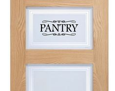 Pantry door or wall decal you pick style decorative for Kitchen cabinets lowes with my thoughtful wall letter art