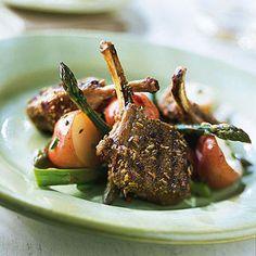 Garlic-Fennel Lamb Chops