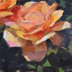 "Daily Paintworks - ""Cozy Up Rose"" - Original Fine Art for Sale - © Carol Marine"