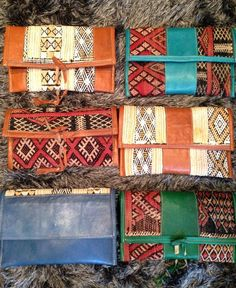 Sneak peek into our NEW Moroccan clutches - handmade using traditional Kilim embroidery and  leather #moroccan #boho #clutches <3  Contact to pre-order at info@be-snazzy.com Soon on www.be-snazzy.com
