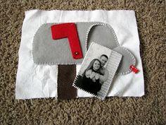 Laminated photo on back of letter