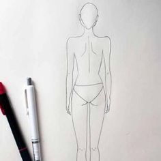 The simple tutorial in how draw back view pose of female fashion figure. Learn drawing back pose in very simple steps. Best for beginners. Fashion Drawing Tutorial, Fashion Illustration Tutorial, Fashion Figure Drawing, Fashion Designing Course, Fashion Design Classes, Dress Design Sketches, Fashion Design Sketches, Fashion Sketch Template, Croquis Fashion