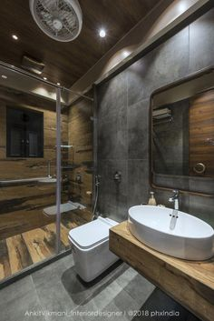 bathroom decoration appartement Retro Style Appartment Interiors-Ankit Vikmani - The Architects Diary Bathroom Design Luxury, Bathroom Layout, Modern Bathroom Design, Small Bathroom, Bathroom Ideas, Jacuzzi Bathroom, Washroom Design, Bathroom Wall, Bathtub