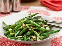 Lemon Almond String Beans recipe from Food Network Kitchen via Food Network