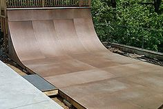 Our product will allow you to build your own skate ramp with partial ramp kits or life-size traceable plans. Skate It. Backyard Skatepark, Skateboard Ramps, Skate Ramp, Tree Houses, Outdoor Furniture, Outdoor Decor, Skateboarding, Sun Lounger, Minecraft