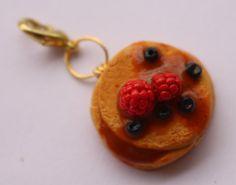 Pancake Handmade Polymer Clay Charm Pancake Stack by StuffAndMeow