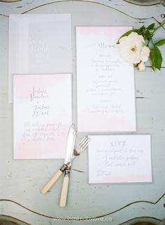 invitation set  by HELLO calligraphy .Małgosia Małecka. photo by Sona Sedlicka