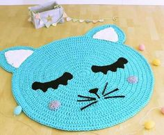 Crochet Girls Dress Pattern, Crochet Bikini Pattern, Crochet Toys Patterns, Crochet Carpet, Crochet Home, Crochet Baby, Crochet Projects To Sell, Braided Rag Rugs, Animal Rug